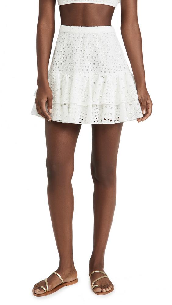 Charo Ruiz Natalie Short Skirt in white