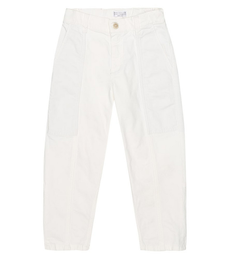 Brunello Cucinelli Kids Exclusive to Mytheresa – Stretch-cotton jeans in white