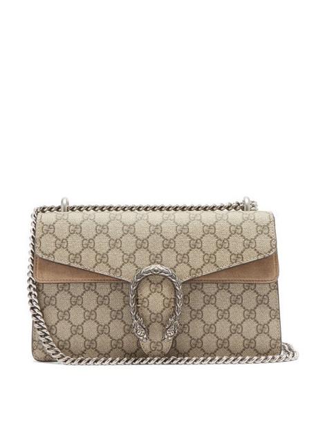 Gucci - Dionysus Small Gg Supreme-canvas Shoulder Bag - Womens - Grey Multi
