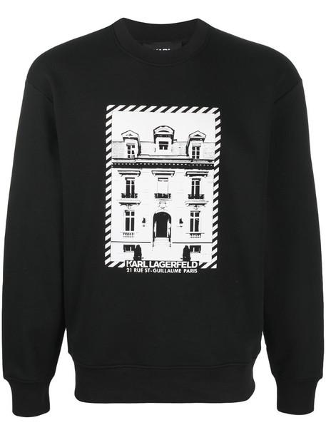 Karl Lagerfeld K/Maison logo sweatshirt in black