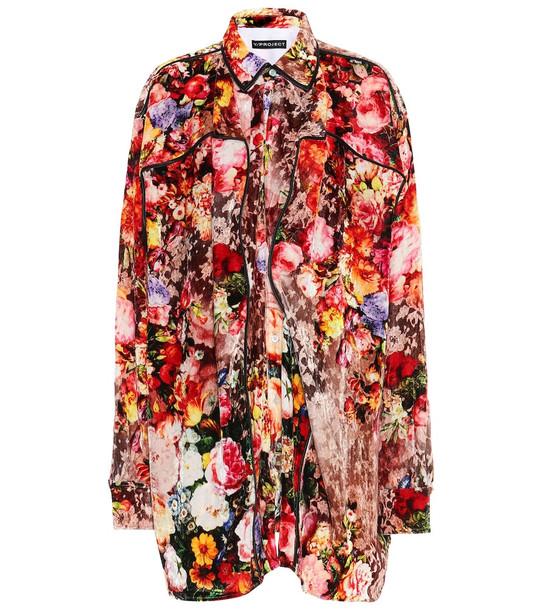 Y/PROJECT Floral velvet shirt