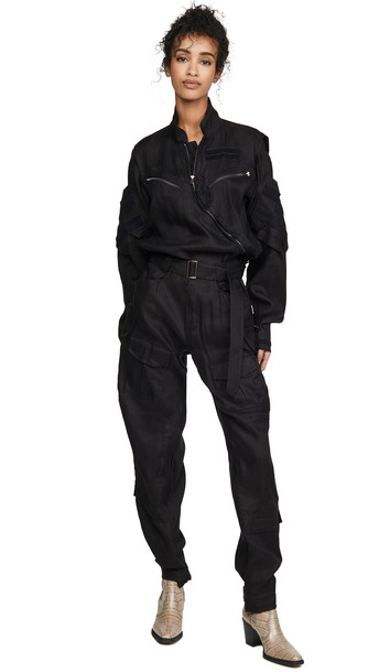TRE by Natalie Ratabesi Long Sleeve Jumpsuit in black