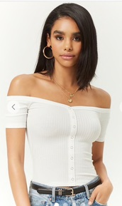 top,white top,ribbed top,forever 21