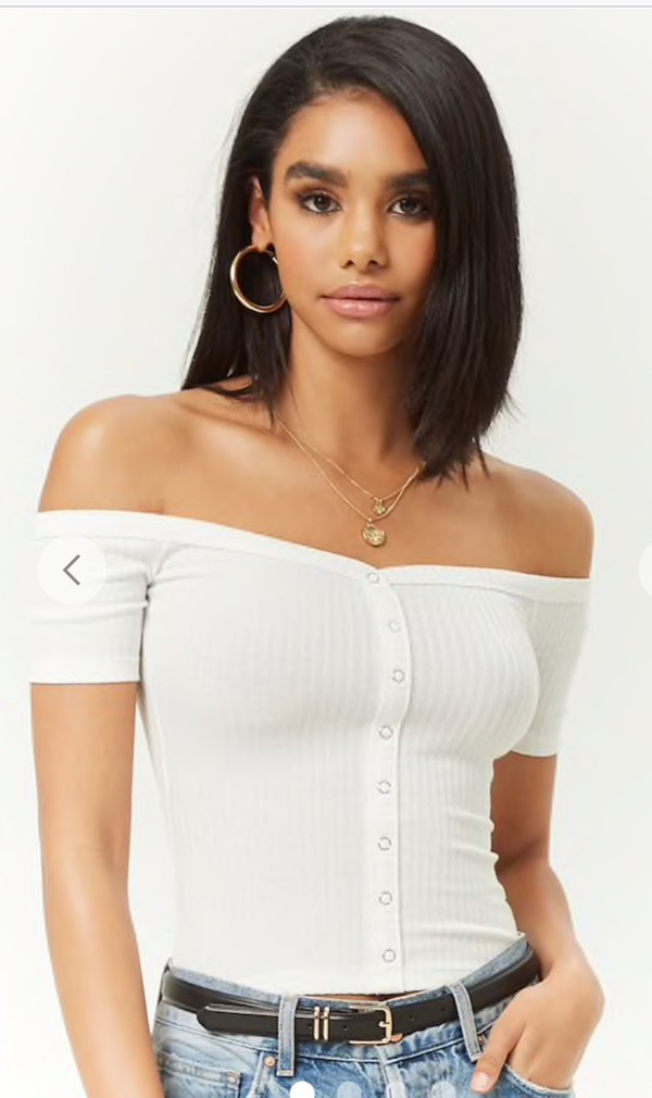 top white top ribbed top forever 21