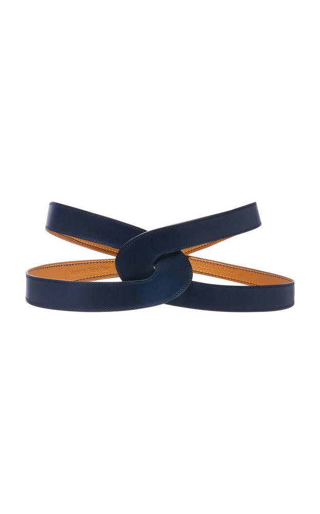 Maison Vaincourt Lisse Calfskin Belt Size: 85 cm in navy