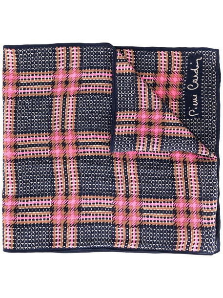 Pierre Cardin Pre-Owned checked scarf in blue