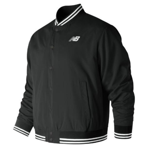 New Balance 91574 Men's Essentials Stadium Jacket - Black (MJ91574BK)