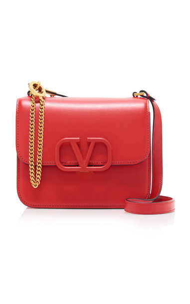 Valentino Vsling Small Shoulder Bag in red