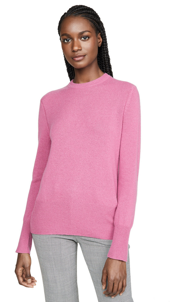 Equipment Sanni Crew Neck Cashmere Sweater in violet / red