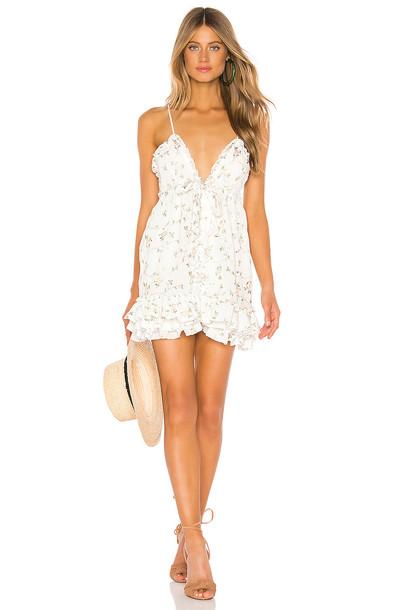 MAJORELLE Penny Dress in white