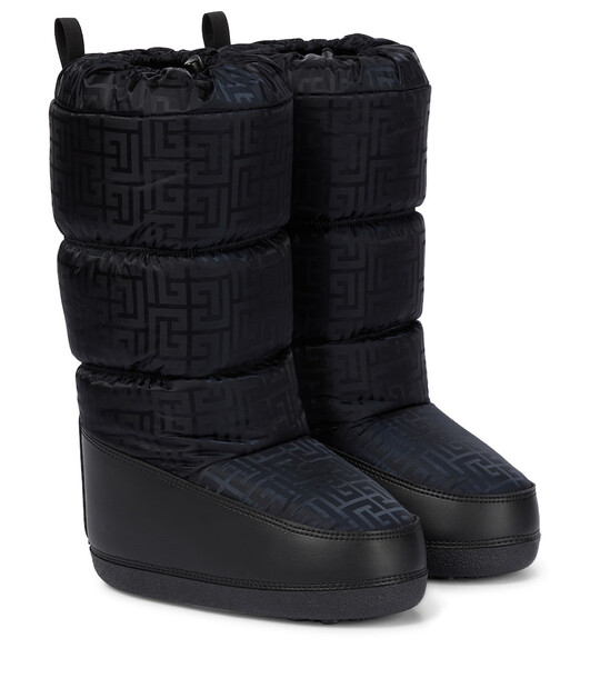 Balmain Monogram quilted snow boots