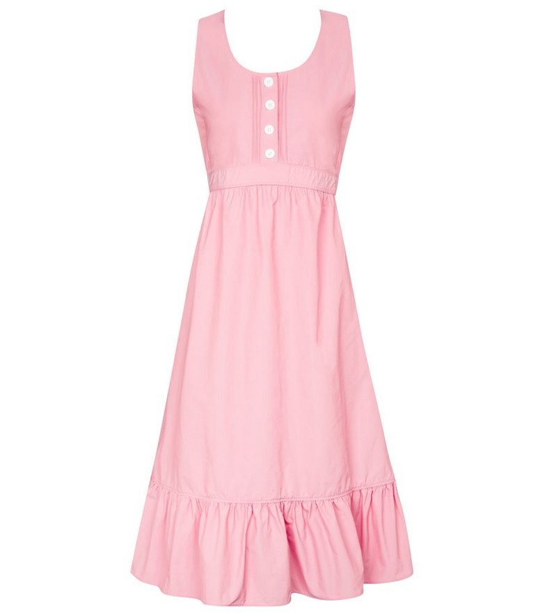 Plan C Technical faille midi dress in pink