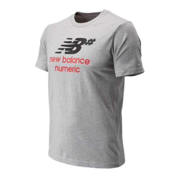 New Balance 91549 Men's NB Numeric Stacked Tee - Grey (MT91549AG)