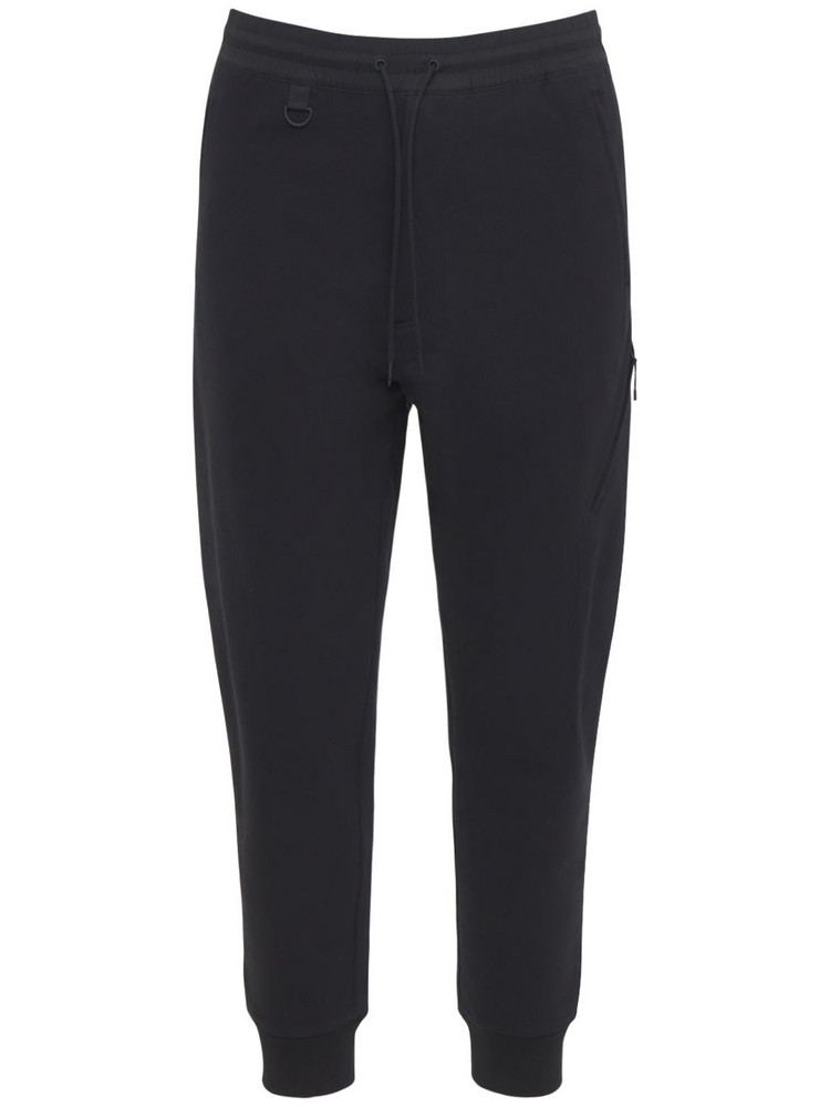 Y-3 Classic Cotton Terry Utility Pants in black