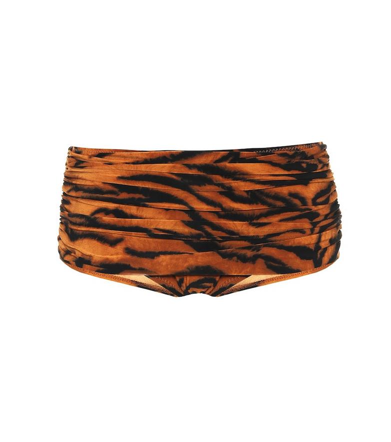 Norma Kamali Exclusive to Mytheresa – Bill tiger-print bikini bottoms in orange