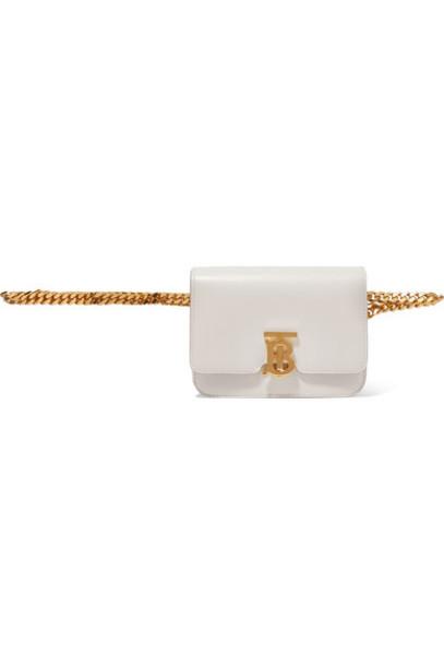 Burberry - Leather Belt Bag - White
