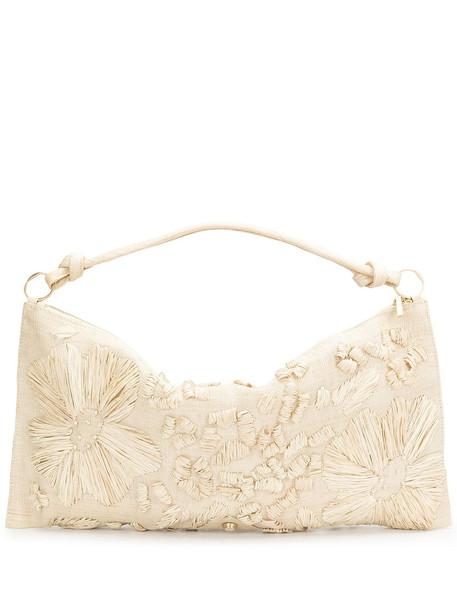 Cult Gaia Hera embroidered shoulder bag - Neutrals