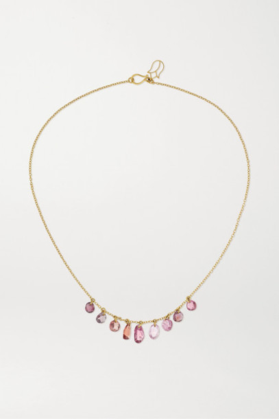 Pippa Small - 18-karat Gold Spinel Necklace