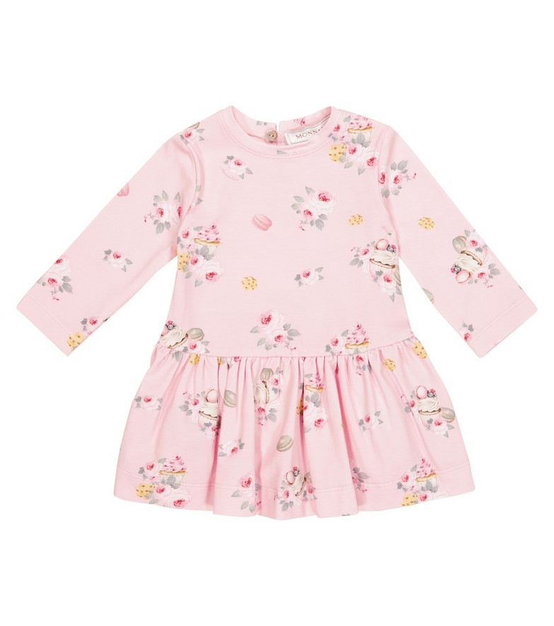 Monnalisa Baby floral jersey dress in pink