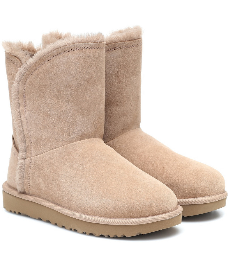 Ugg Classic Short suede ankle boots in pink