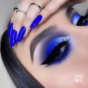 nail polish,blue,blue nails,cobalt blue,nails