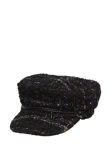 MAISON MICHEL New Abby Tweed Hat in black
