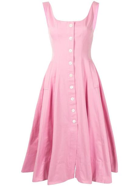 STAUD Loretta buttoned dress in pink
