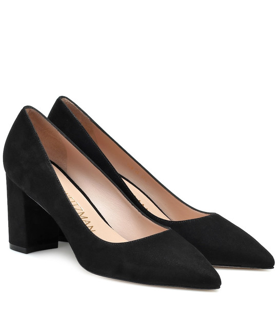 Stuart Weitzman Laney 75 suede pumps in black