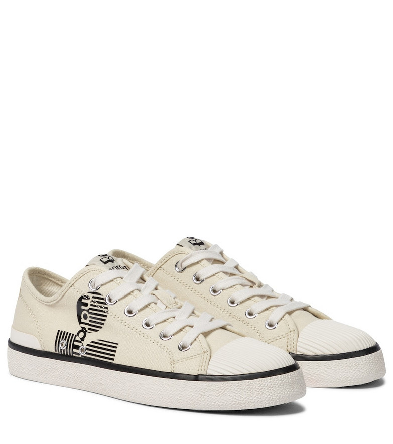 Isabel Marant Binkoo canvas sneakers in white