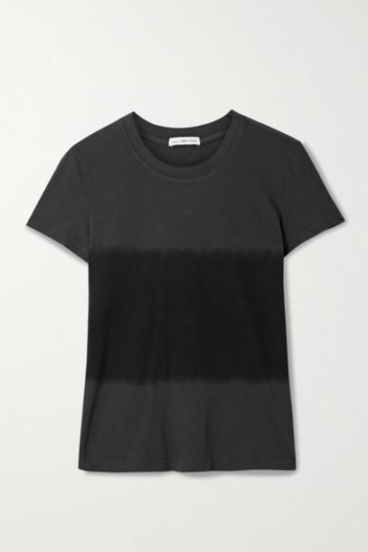 James Perse - Vintage Boy Tie-dyed Cotton-jersey T-shirt - Black