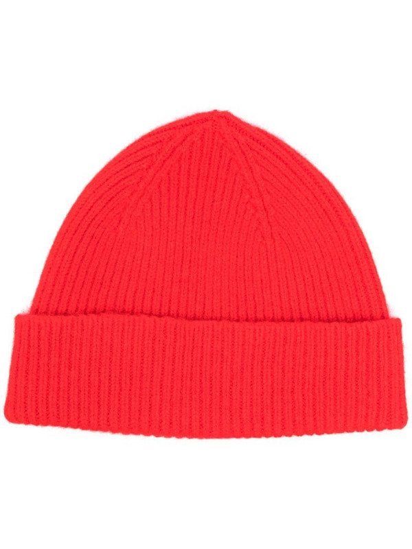 Le Bonnet ribbed-knit beanie in red