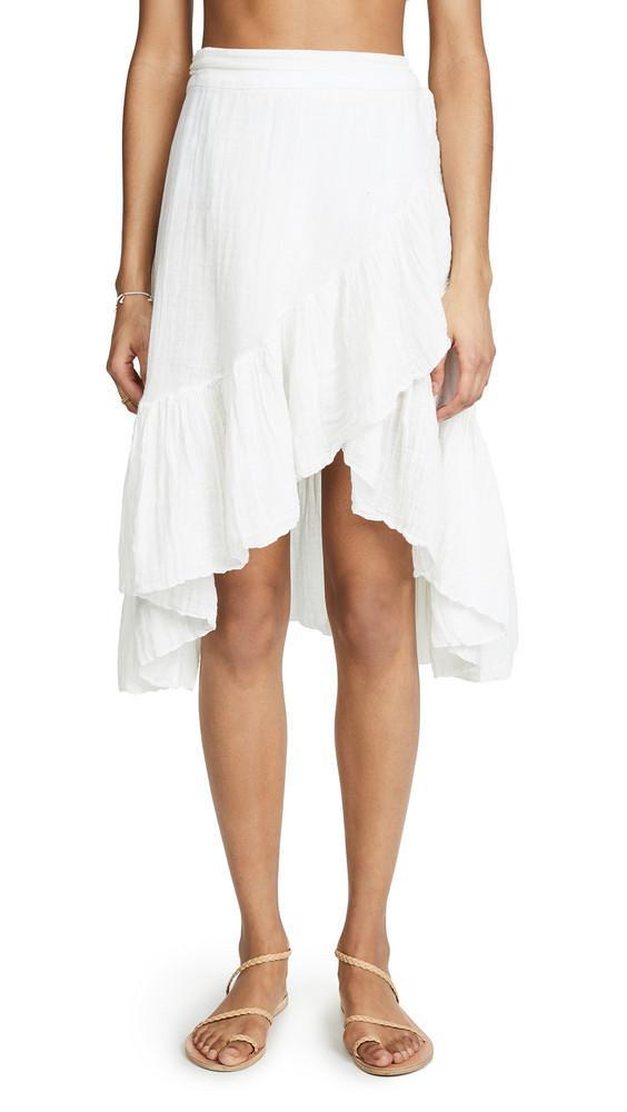 9seed Capri Mini Wrap Skirt in white