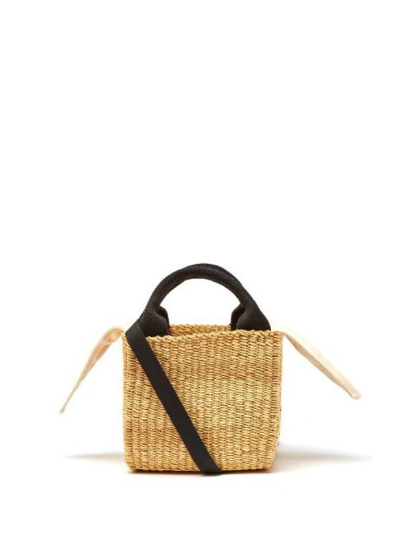 Muuñ Muuñ - Rita Squared Woven Grass Bag - Womens - Cream