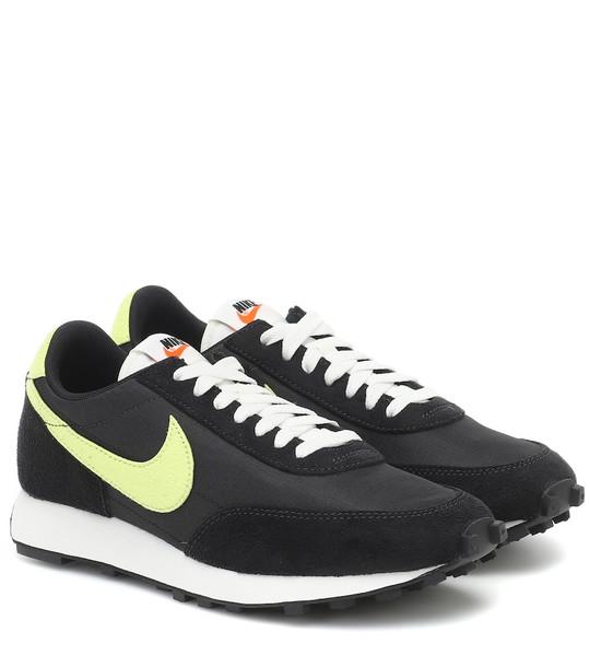 Nike Daybreak suede-trimmed sneakers in black