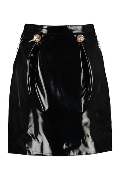 Versace Faux Leather Mini Skirt in black