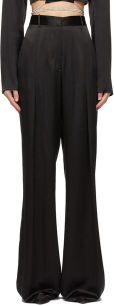 Michael Lo Sordo Black Silk Relaxed Boy Trousers
