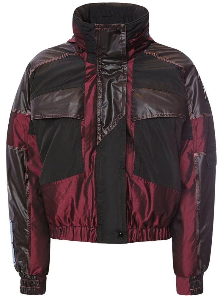 MCQ Fantasma Paneled Cotton Puffer Jacket in black / red