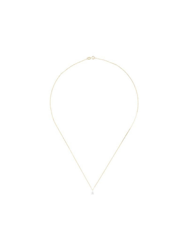LE STER 18kt yellow gold diamond Bombette Solitaire necklace