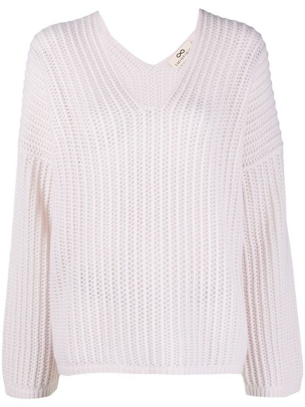 Sminfinity ribbed-knit cashmere jumper in pink
