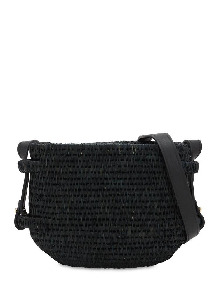 KHOKHO Thembi Woven Basket Bag in black