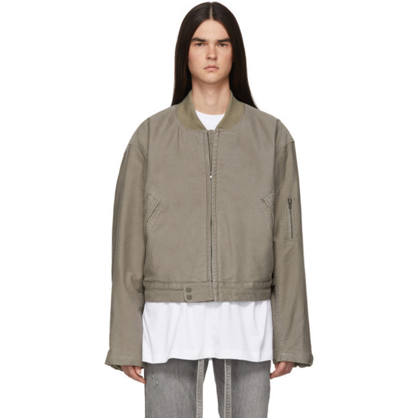 Fear of God Grey Cotton Bomber Jacket