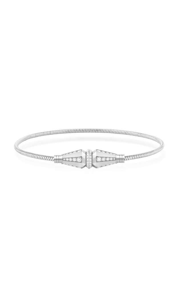 Boucheron Jack de Boucheron Single Wrap Bracelet with Diamonds in white