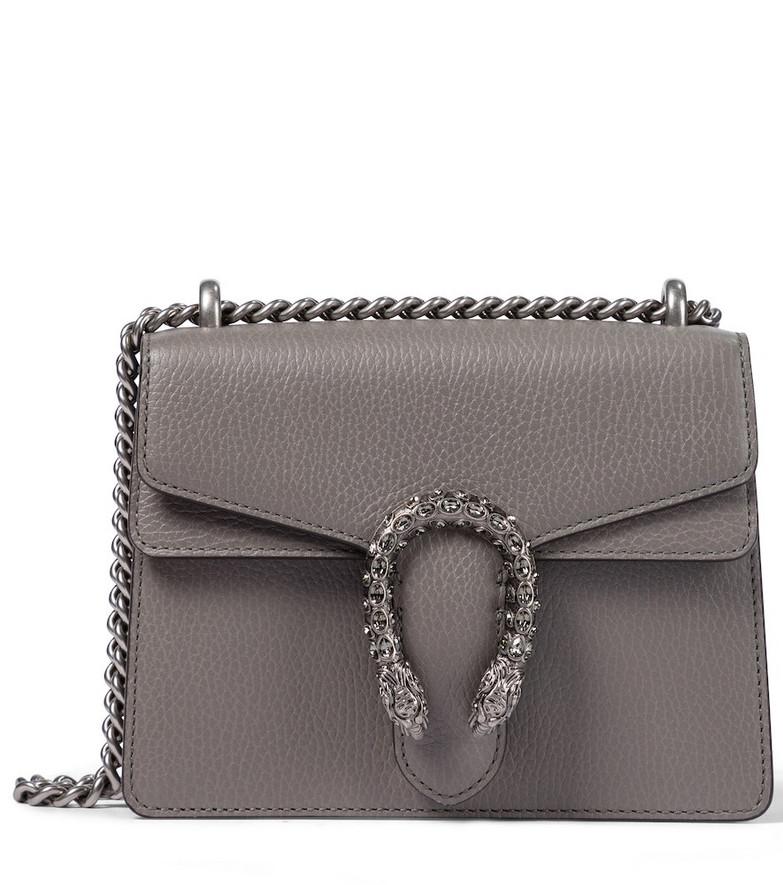 Gucci Dionysus Mini leather shoulder bag in grey