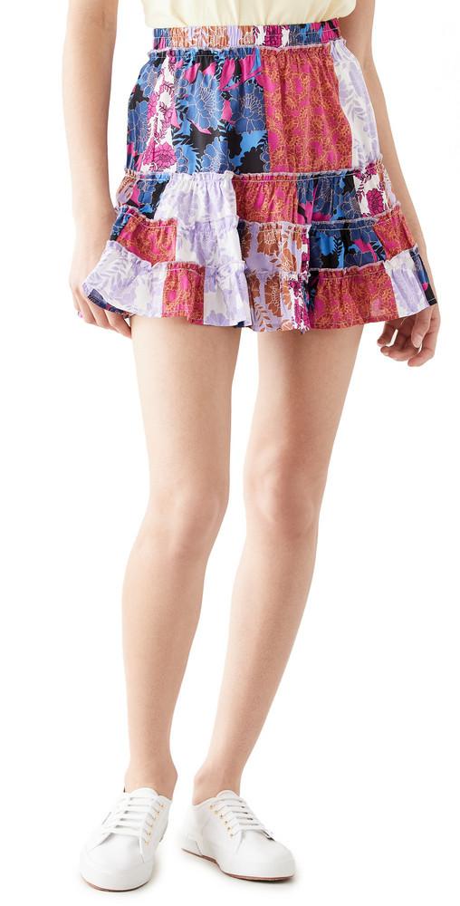 BB Dakota Dry Your Tiers Skirt in multi