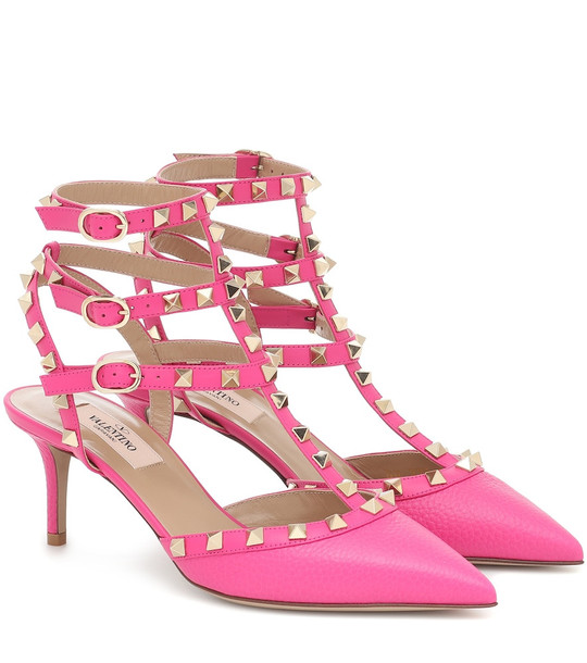 Valentino Garavani Rockstud leather pumps in pink