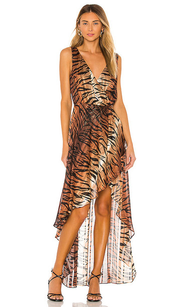LPA Nikki Dress in Brown