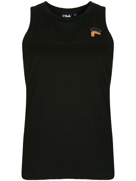 Fila sleeveless logo T-shirt in black