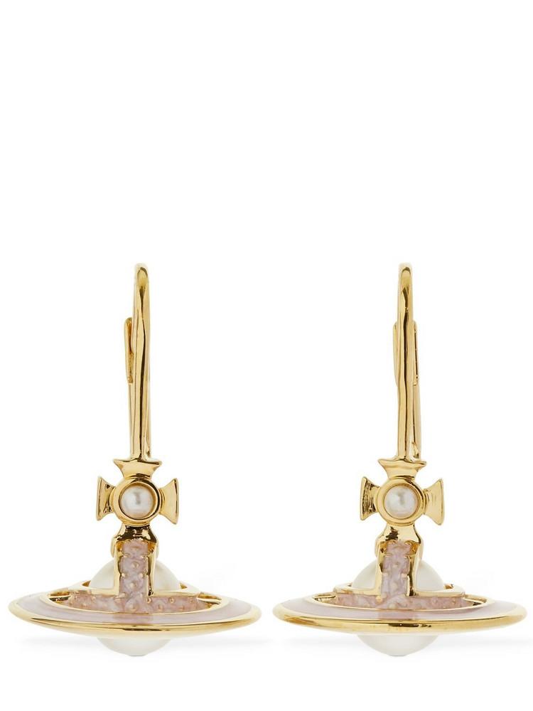 VIVIENNE WESTWOOD Simonetta Faux Pearl Drop Earrings in gold / white
