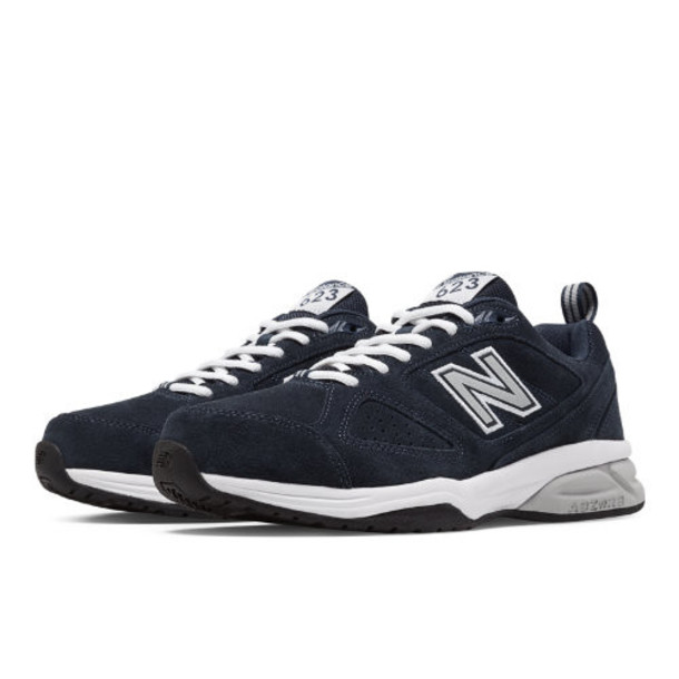 New Balance 623v3 Suede Trainer Men's Everyday Trainers Shoes - Navy/Off White (MX623NS3)