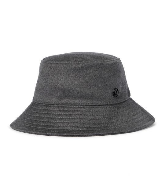 Maison Michel Angele cashmere bucket hat in grey